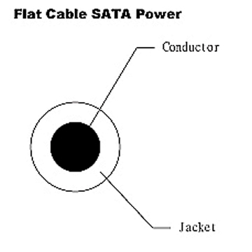 Flat Cable - SATA Power